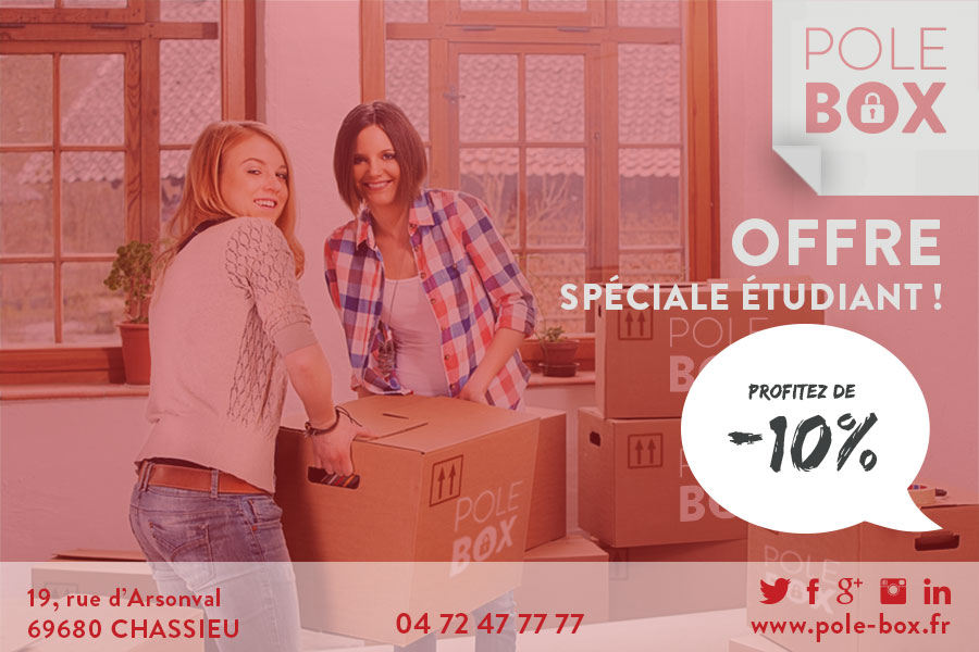 offre etudiants pole box location de box garde meuble bureau lyon chassieu eurexpo. Black Bedroom Furniture Sets. Home Design Ideas
